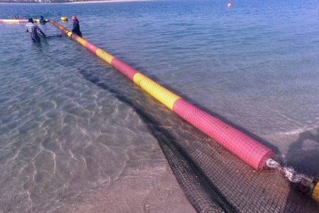 Reinstallation-of-the-Jelly-Fish-Net-after-cleaning